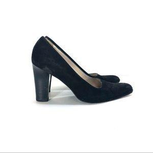 Chanel suede block heels size 39